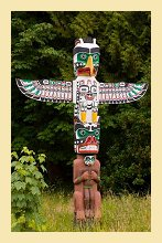 Totem Pole in Vancouver, Canada