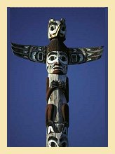 Totem Pole in Whitehorse, Canada